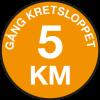 5 km gång
